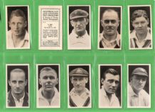 Cigarette cards set Australian & English test Cricketers